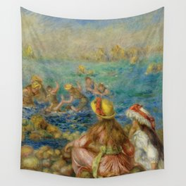"""Auguste Renoir """"Baigneuses"""" Wall Tapestry"""