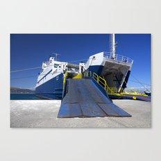 Ionian ferry Ramp Canvas Print
