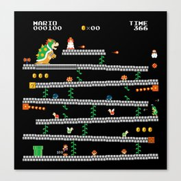 Super Mario x Donkey Kong level mockup Canvas Print