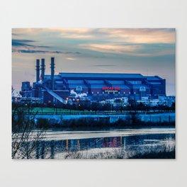 Indy's Lucas Oil Stadium Near the White River Canvas Print