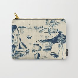 Painterly blue seaside Carry-All Pouch
