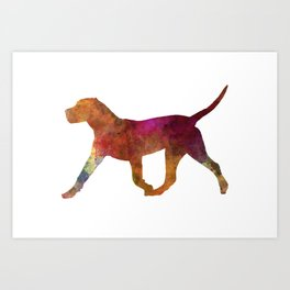 Dogo Canario in watercolor Art Print