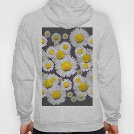 CHARCOAL GREY GARDEN OF SHASTA DAISY FLOWERS Hoody