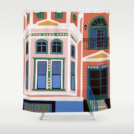 San Francisco victorian house Shower Curtain