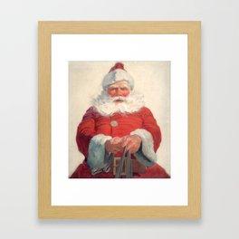 Classic Santa Claus Framed Art Print