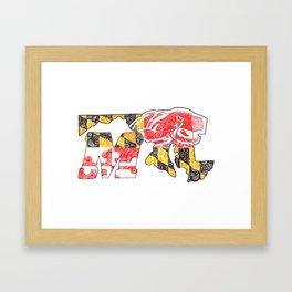 M for Maryland Framed Art Print
