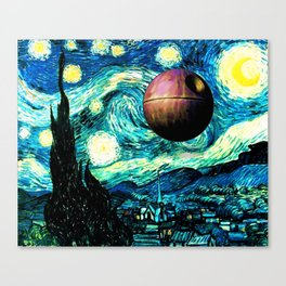 Starry Night Space Collage Canvas Print