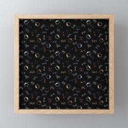 Ditzy Particle Physics on Black Framed Mini Art Print
