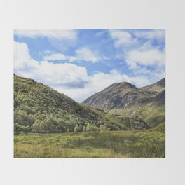 A walk in the Scottish Highlands, Glencoe. Throw Blanket