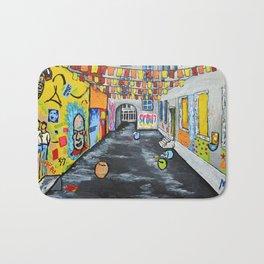 Berlin Alley by Mike Kraus Bath Mat