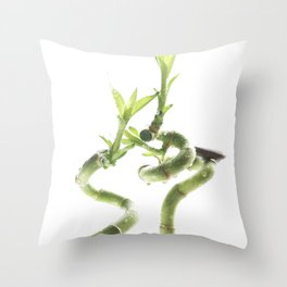 decorative bamboo against a light background Throw Pillow