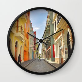 Streets of Old San Juan Wall Clock