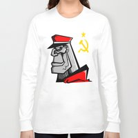 russia Long Sleeve T-shirts featuring For Russia by Dangerous Monkey