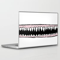 teeth Laptop & iPad Skins featuring Teeth. by Ninapedia