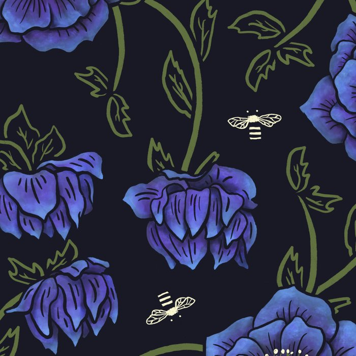 Midnight Hellebore Leggings