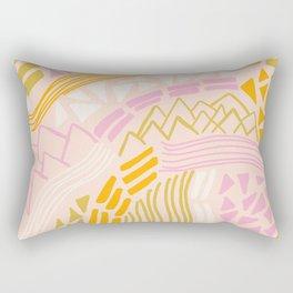 cacade, peach Rectangular Pillow