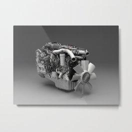 3D Engine Model Metal Print