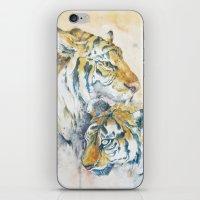 tigers iPhone & iPod Skins featuring Tigers by Sasita Samarnpharb