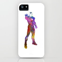 Iron man 01 in watercolor iPhone Case