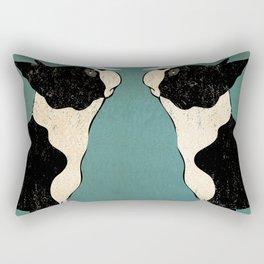 Boston Terrier Wine Vineyards Fowler Rectangular Pillow