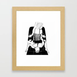 Face Ride Framed Art Print