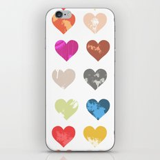 Colorful love pattern  iPhone & iPod Skin
