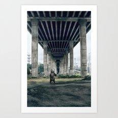 Bear sighting Art Print