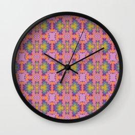 Purple scarab Wall Clock