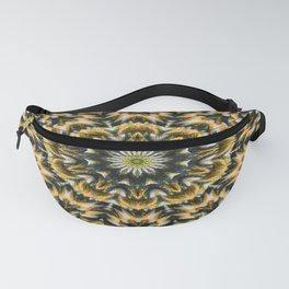 Yellow knit pattern kaleidoscope 3D Fanny Pack