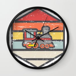 Retro Badge Locomotive Light Wall Clock