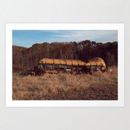 Rare Southern Ohio Field Bus Art Print