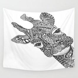 Zentangle Giraffe Wall Tapestry