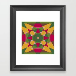 Shades of flowers Framed Art Print