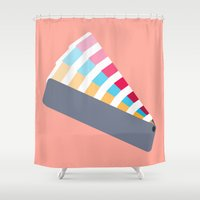pantone Shower Curtains featuring #28 Pantone Swatches by MNML Thing