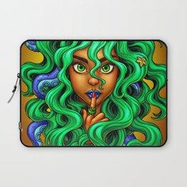 Tentacle Hair Lady- green Laptop Sleeve