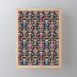 Muertos Party Framed Mini Art Print