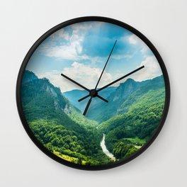 Landscape - Green Mountains  Wall Clock