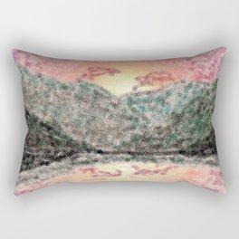 Digital Mountain Sunset Rectangular Pillow