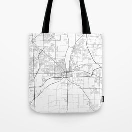 Minimal City Maps - Map Of Joliet, Illinois, United States Tote Bag
