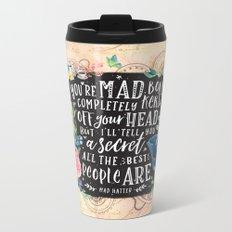Mad Hatter Metal Travel Mug