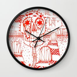 Dead Head Wall Clock