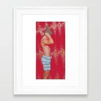 hunter Framed Art Prints featuring Hunter by Kim Leutwyler