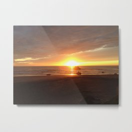 21st Beach Sunset Metal Print