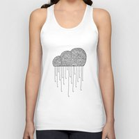 cloud Tank Tops featuring Cloud by Milos