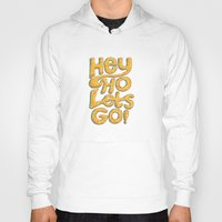 ramones Hoodies featuring Hey Ho Let's Go by Word Quirk