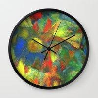 clown Wall Clocks featuring Clown by Nato Gomes