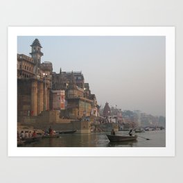 The Sacred Ganges River in India (2004f) Art Print