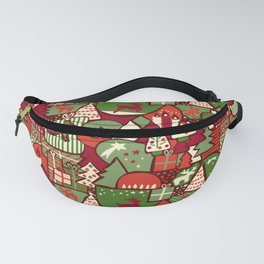 Christmas Collage Pattern Fanny Pack