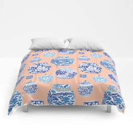 Chinoiserie Ginger Jar Collection No. 1 Comforters