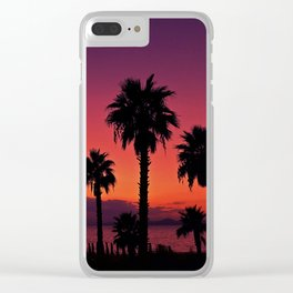 Sunset Is My Favourite Colour Clear iPhone Case